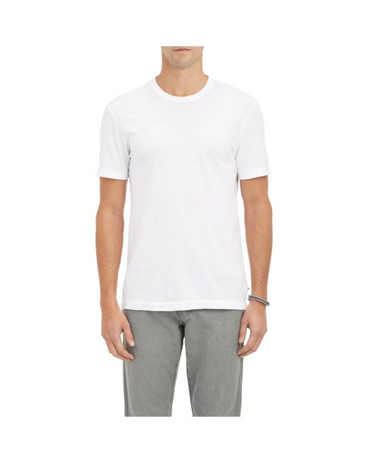 James Perse - White Jersey Crewneck T for Men - Lyst