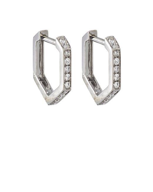 Eva Fehren   Metallic Hexagon Hoop Earrings   Lyst