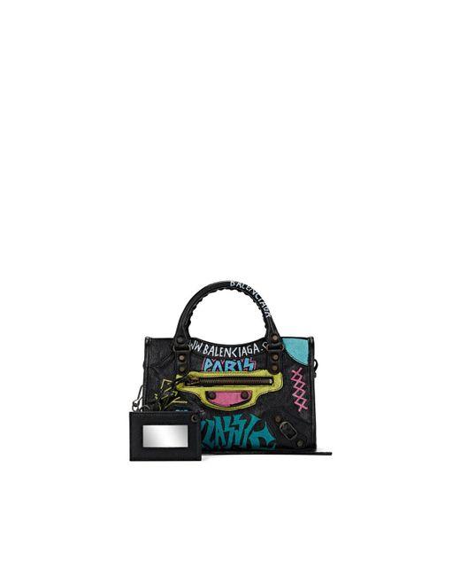 Balenciaga Black Arena Leather Classic City Mini Bag