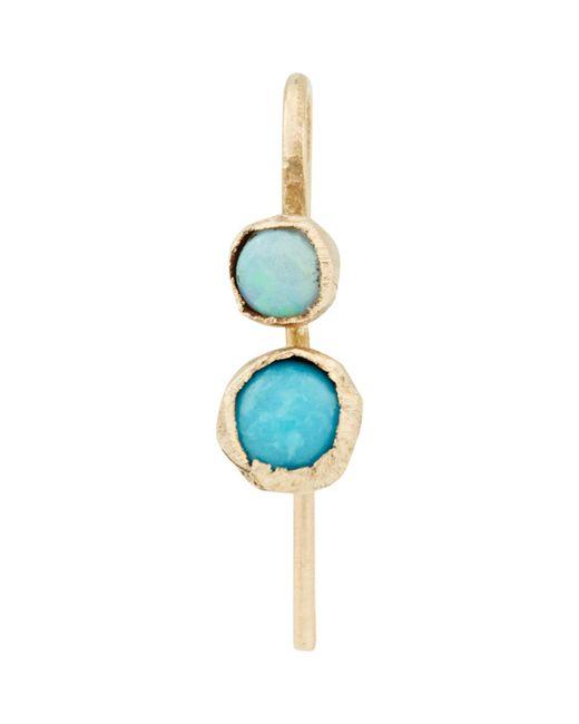Julie Wolfe | Blue Gemstone Drop Earring | Lyst