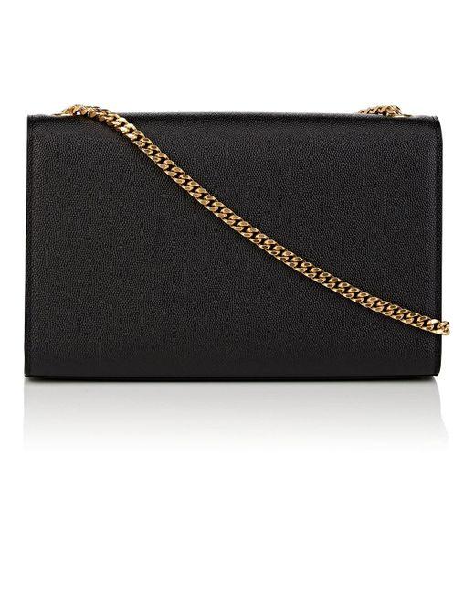 55b65f1650 ... Saint Laurent - Black Monogram Kate Medium Leather Chain Bag - Lyst ...