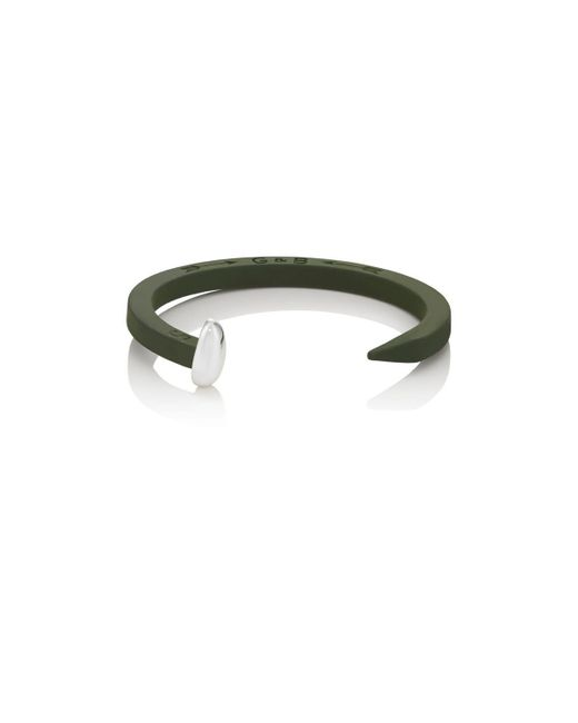 Giles & Brother - Green Railroad Spike Cuff for Men - Lyst