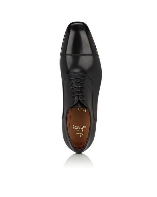 5fcad0163502 ... Christian Louboutin - Black Greggo Leather Balmorals for Men - Lyst ...
