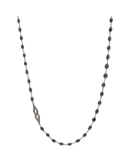 Monique Péan - Blue Black Diamond Bead Necklace With White Diamond Charms - Lyst