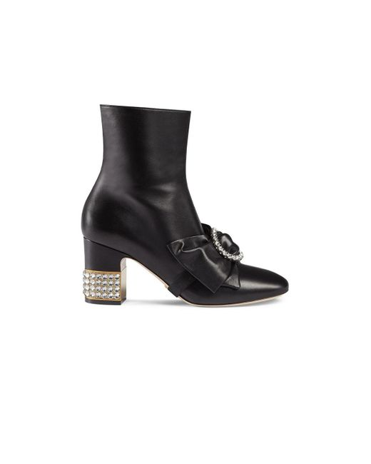 Gucci - Black Candy Leather Ankle Boots - Lyst