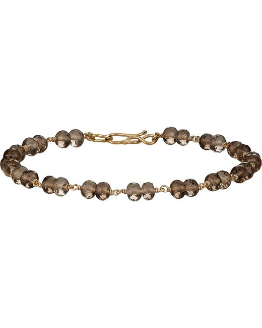 Dean Harris - Brown Beaded Bracelet - Lyst