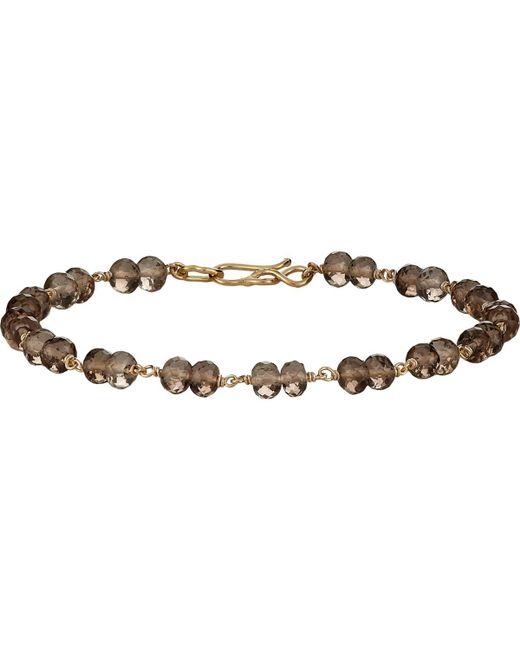 Dean Harris - Brown Beaded Bracelet for Men - Lyst