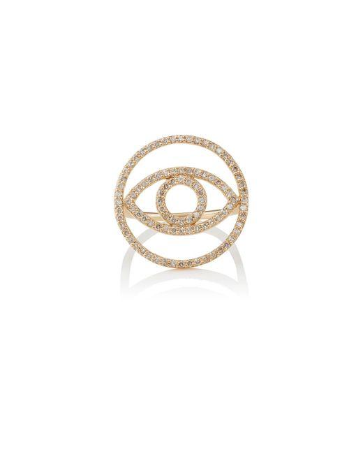 Ileana Makri | Metallic Evil Eye White Diamond Ring | Lyst
