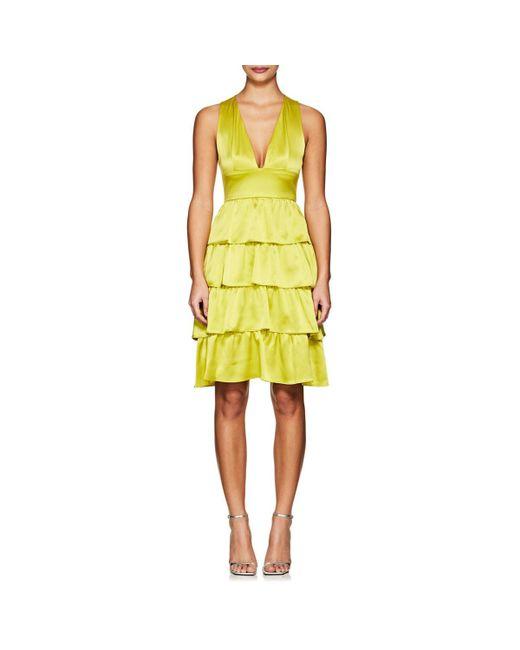 Cynthia Rowley - Yellow Silk Ruffle Dress - Lyst