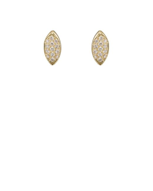 Jennifer Meyer | White Mini Evil Eye Stud Earrings | Lyst
