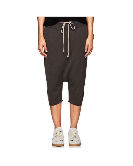 Rick Owens - Gray Wool Drop-rise Crop Pants - Lyst