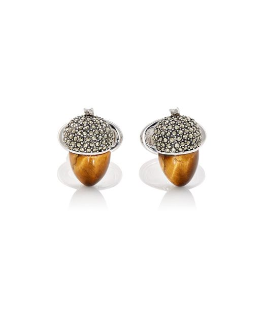 Jan Leslie | Metallic Acorn Cufflinks | Lyst