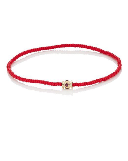 Luis Morais - Red Beaded Bracelet for Men - Lyst