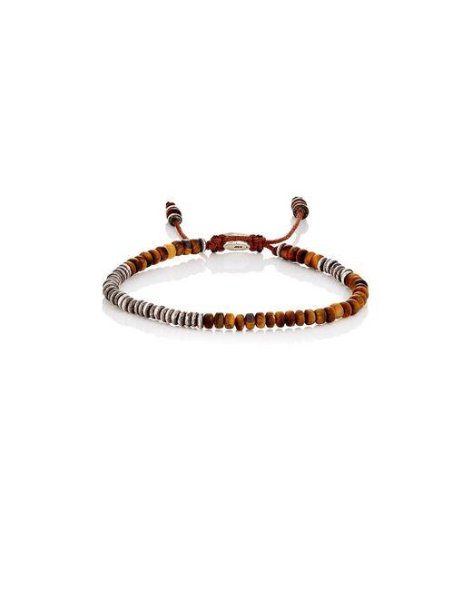 M. Cohen - Brown Round Table Bracelet In Tiger Eye for Men - Lyst
