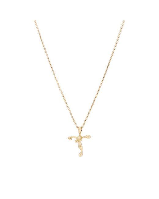 Dean Harris - Metallic Cross On Chain Necklace for Men - Lyst