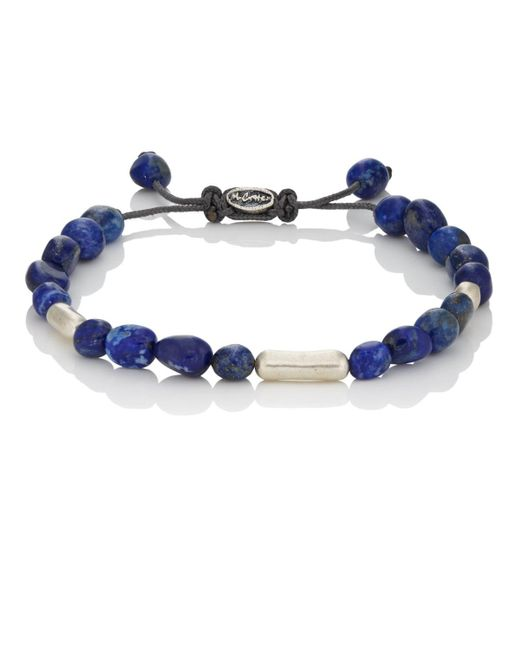 M. Cohen - Blue Lapis Beaded Bracelet for Men - Lyst