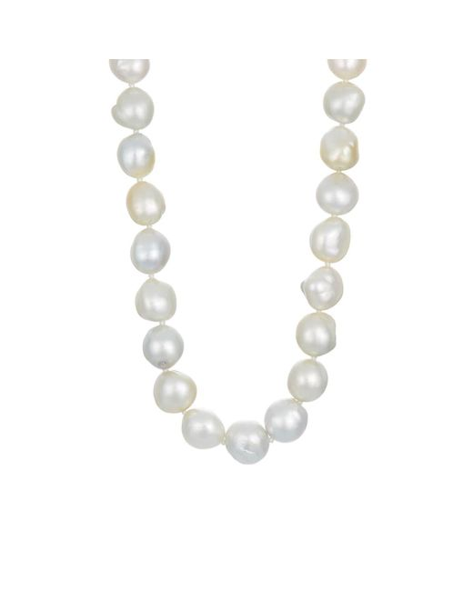 Linda Lee Johnson - Metallic South Sea Pearl Necklace - Lyst