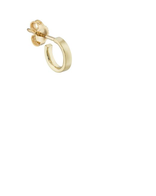 Finn - Metallic Yellow Gold Huggie Hoop Earring - Lyst
