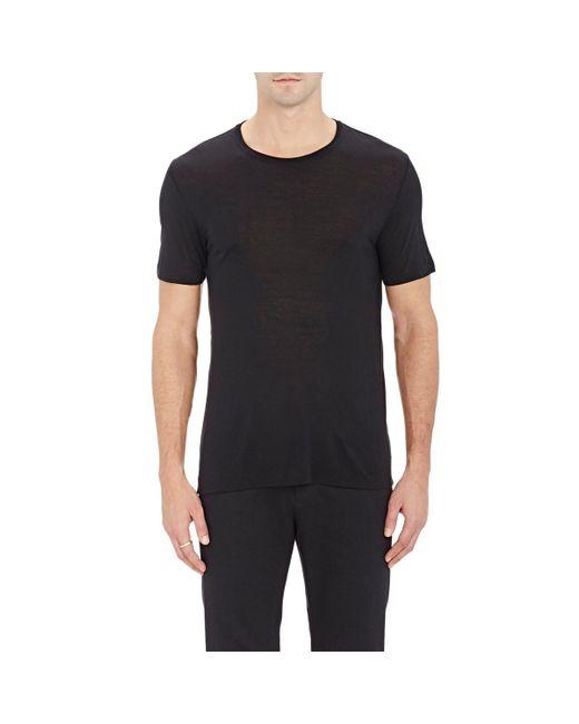 ATM - Black Slub T-shirt for Men - Lyst
