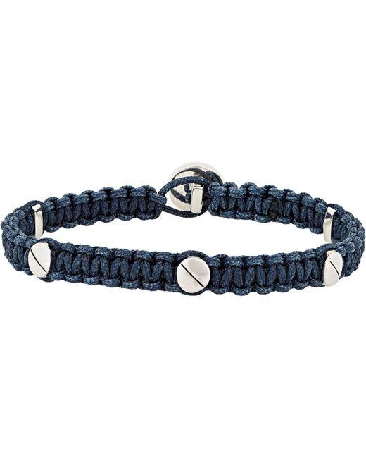 Zadeh - Blue Macramé Bracelet for Men - Lyst