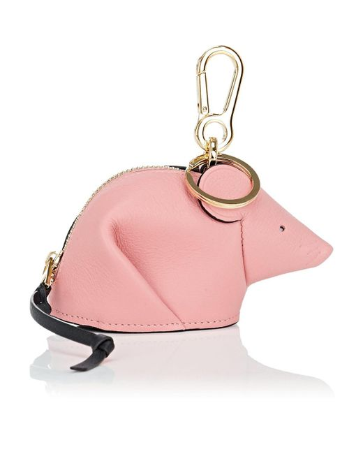 Loewe - Pink Mouse Leather Coin Purse Key Chain - Lyst