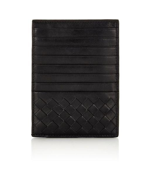 Bottega Veneta | Black Intrecciato Large Card Case for Men | Lyst