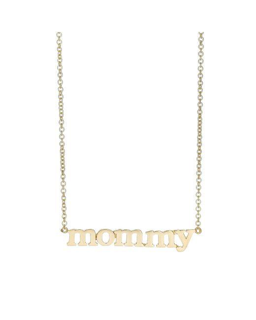 Jennifer Meyer | Metallic mommy Pendant Necklace | Lyst