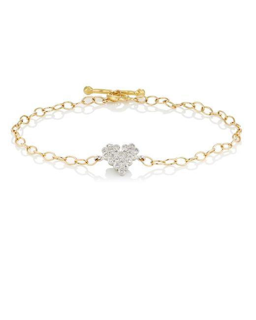 Cathy Waterman   Metallic Scalloped Heart Charm Bracelet Size Os   Lyst