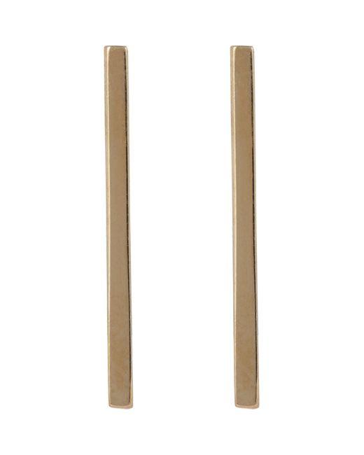 Loren Stewart   Metallic Gold Long Rod Earrings   Lyst
