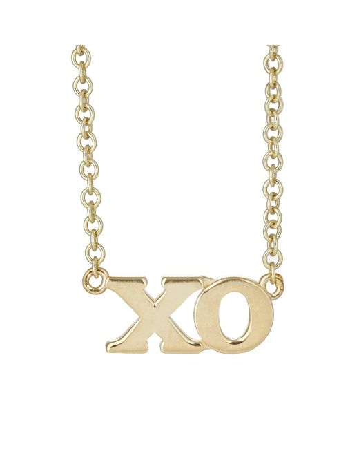 Jennifer Meyer | Metallic xo Charm Necklace | Lyst