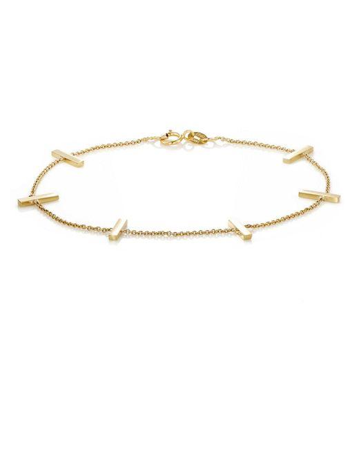 Jennifer Meyer | Metallic Bar Charm Bracelet | Lyst