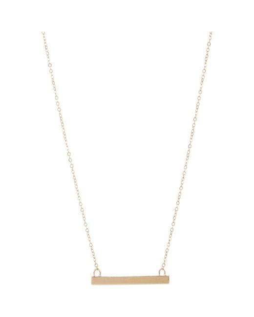 Loren Stewart | Metallic Gold Baby Bar Pendant Necklace | Lyst