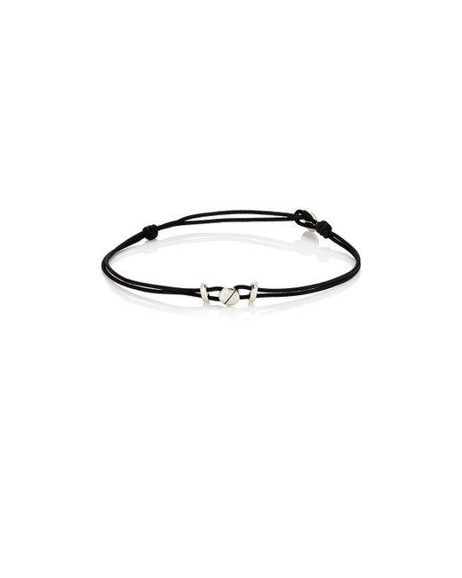 Zadeh | Black Screw Bracelet for Men | Lyst