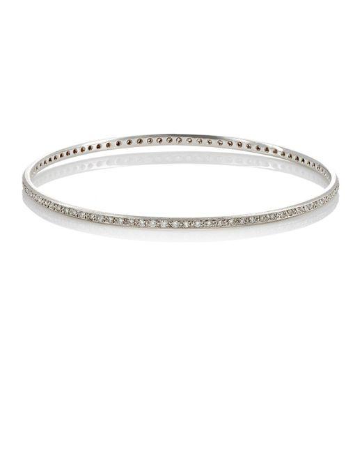 Irene Neuwirth | Metallic White Diamond Bangle | Lyst