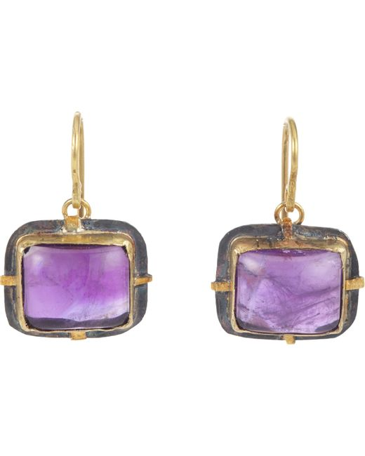 Judy Geib | Purple Amethyst Drop Earrings | Lyst