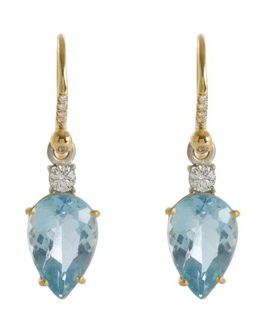 Irene Neuwirth | Blue Gemstone Drop Earrings | Lyst