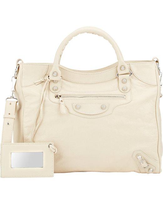 Balenciaga | Natural Arena Leather Giant Velo Bag | Lyst