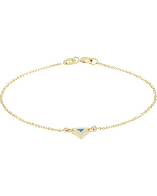 Jennifer Meyer   Metallic Triangular Charm Bracelet   Lyst