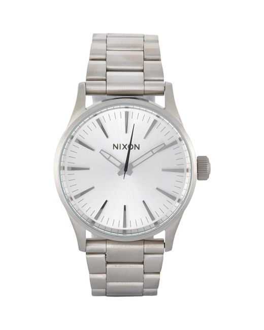 Nixon | Metallic Sentry 38 Ss Watch for Men | Lyst