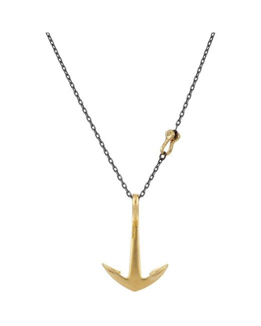 Miansai | Metallic Anchor Pendant Necklace for Men | Lyst