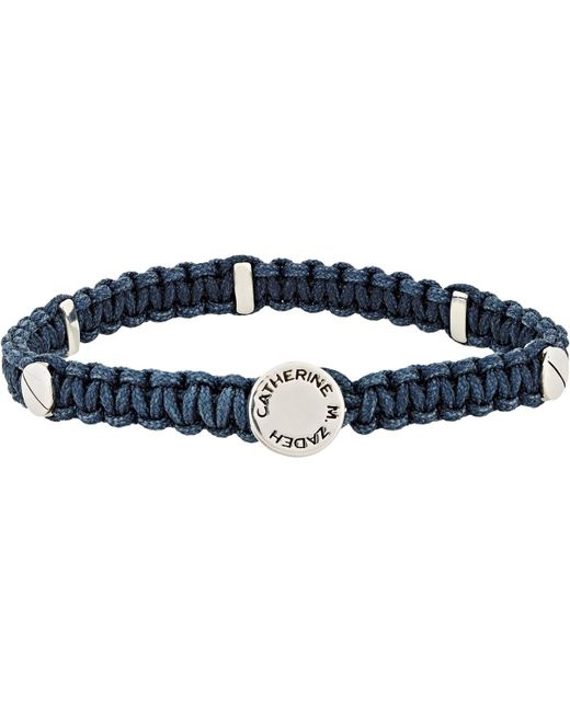 Zadeh | Blue Macramé Bracelet for Men | Lyst