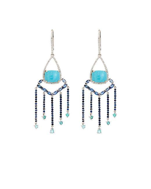 Sharon Khazzam | Blue Shirley Drop Earrings | Lyst