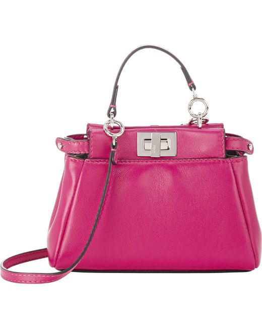 Fendi | Pink Peekaboo Micro Satchel | Lyst