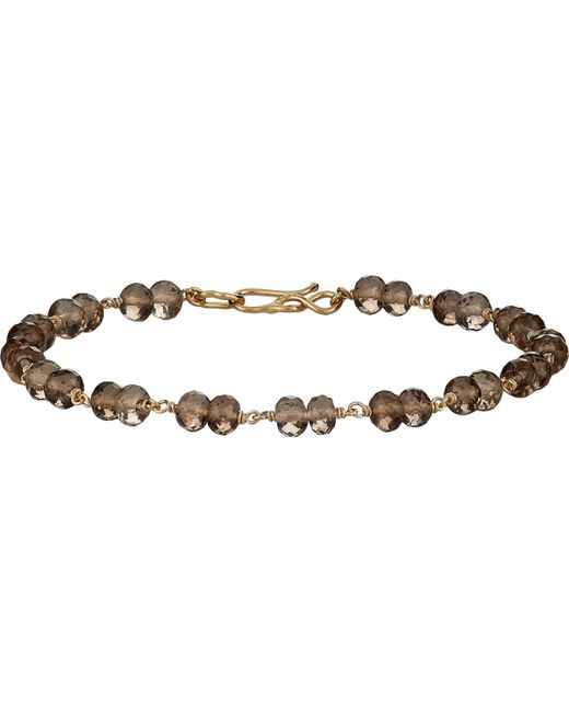 Dean Harris | Brown Beaded Bracelet for Men | Lyst