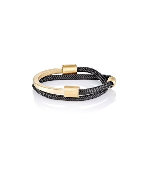 Miansai | Black Modern Half Rope Cuff Bracelet for Men | Lyst