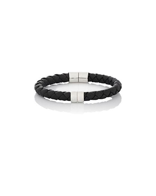 Bottega Veneta | Black Leather Hinged Bracelet | Lyst