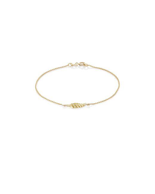 Jennifer Meyer | Multicolor Leaf Charm Bracelet | Lyst