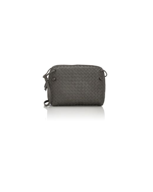 Bottega Veneta | Gray Intrecciato Double Messenger | Lyst