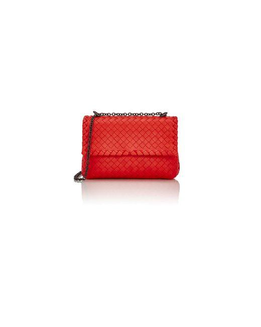 Bottega Veneta | Red Intrecciato Olimpia Mini Shoulder Bag | Lyst