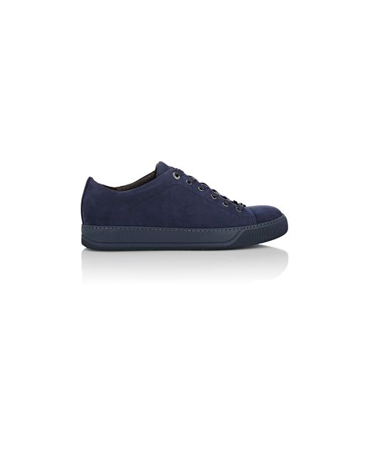 Lanvin | Blue Nubuck Low for Men | Lyst